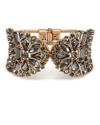 Belle By Badgley Mischka - Vintage Multi Stone Hinge Cuff Bracelet - Lyst