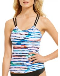 Next By Athena - Perfect Alignment Striped Third Eye B/c Cup Tankni - Lyst