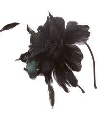 August Accessories - Fairlady Feather Fascinator - Lyst