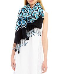 Tommy Bahama Eyes On You Ikat Oblong Scarf - Multicolor