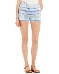Freestyle - Plaid Flat-front Shorts - Lyst