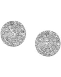 Kate Spade - Pave Circle Stud Earrings - Lyst