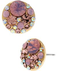 Betsey Johnson Faceted Bead Round Stud Earrings