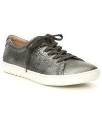 Birkenstock - Arran Metallic Leather Sneakers - Lyst