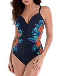 Miraclesuit - Samoan Sunset Temptation Underwire One-piece Swimsuit - Lyst