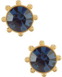 Kate Spade - Flying Color Bezel Stud Earrings - Lyst