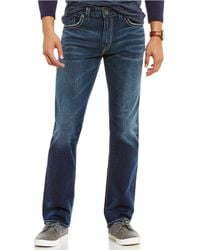 Silver Jeans Co. - Eddie Relaxed Tapered-fit Dark Wash Jeans - Lyst