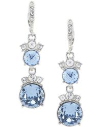 Givenchy - Light Sapphire Double Drop Earrings - Lyst