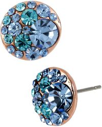 Betsey Johnson - Crystal Stud Earrings - Lyst
