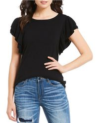 Banjara - Double Ruffle Sleeve Sweater - Lyst