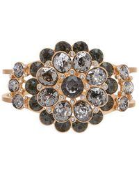 Belle By Badgley Mischka - Cluster Multi Stone Hinge Bracelet - Lyst