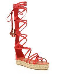 Free People | Bondi Tall Gladiator Lace Up Sandals | Lyst