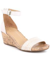 3b21d969bcf Sam Edelman. Dina 2 Espadrille Wedge Sandal.  120. Amazon Prime ·  Naturalizer - Cami Woven Fabric Cork Ankle Strap Wedges - Lyst