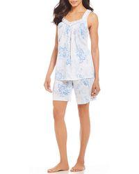 Carole Hochman - Floral-printed Jersey Bermuda Pajama Set - Lyst