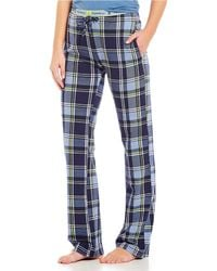 Psycho Bunny - Large Plaid Print Knit Sleep Pants - Lyst