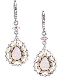 Jenny Packham - Hematite Pave Stone Drop Earrings - Lyst