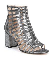 Karl Lagerfeld - Jasmint Suede Gladiator Block Heel Dress Sandals - Lyst