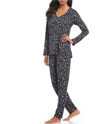 N By Natori - Wild Instinct Animal Print Jersey Knit Pajama Set - Lyst