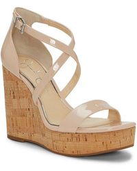 Jessica Simpson - Stassi Patent Banded Cork Wedges - Lyst
