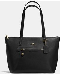 904a4d2e954 Tory Burch Taylor Pebbled Leather Zip-top Hobo Bag in Black - Lyst