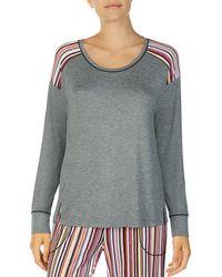 Kensie - Jersey Knit Sleep Top - Lyst