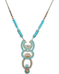 Lucky Brand - Turquoise And Jasper Statement Necklace - Lyst