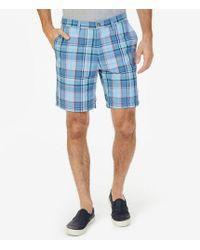 Nautica - Flat-front Plaid Deck Shorts - Lyst