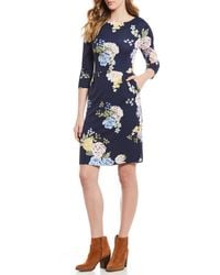 Joules - Beth Floral Print Sheath Dress - Lyst
