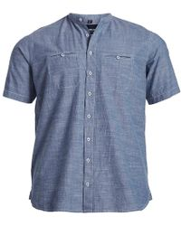 North 56'4 - North 56 4 Big & Tall Solid Denim Short-sleeve Woven Shirt - Lyst