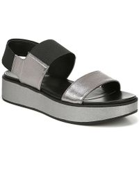 67bc2161901c Naturalizer - Carys Leather And Fabric Sporty Wedge Sandals - Lyst