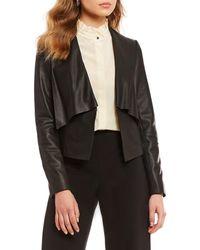 Antonio Melani - Luxury Collection Stella Genuine Leather Open Front Jacket - Lyst