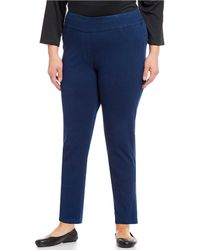 Ruby Rd. - Plus Size Pull-on Straight Leg Ankle Twill Pants - Lyst