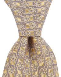 "Psycho Bunny - All Over Bunny Narrow 3"" Silk Tie - Lyst"