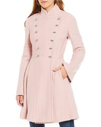 Guess - Double Breasted Military Coat - Lyst