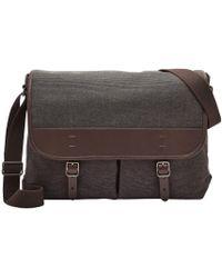Fossil - Buckner Nylon Messenger Bag - Lyst