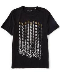 Guess - Short-sleeve Dissolve Logo T-shirt - Lyst