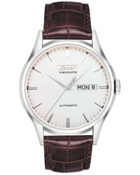 Tissot - Heritage Visodate Automatic Leather-strap Watch - Lyst