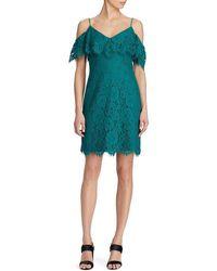 Lauren by Ralph Lauren - Ruffled Lace Dress - Lyst
