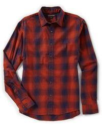 Michael Kors - Slim-fit Ombre Plaid Long-sleeve Woven Shirt - Lyst