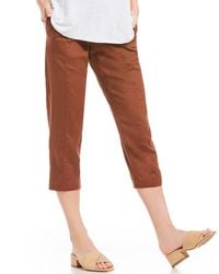 Eileen Fisher - Petite Size Pull-on Ankle Pants - Lyst