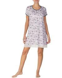 Kensie - Floral-print Stretch Knit Sleepshirt - Lyst