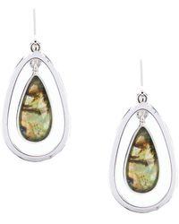 Anne Klein - Abalone Drop Earrings - Lyst