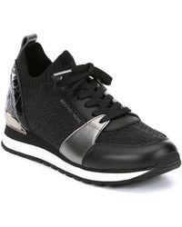 MICHAEL Michael Kors - Billie Knit Trainer Metallic Sneakers - Lyst