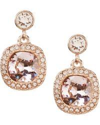 Givenchy - Cushion-cut Drop Earrings - Lyst
