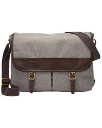 Fossil - Buckner Fabric Laptop Messenger Bag - Lyst