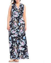 47aed1aa4035 Vince Camuto Double-strap Maxi Dress in Green - Lyst