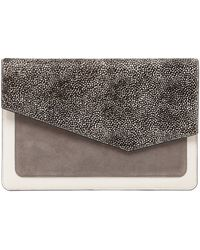 Botkier - Cobble Hill Calfskin Leather Flap Clutch - Lyst