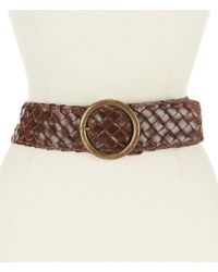 Bed Stu - Dreamweaver Wide Woven Leather Belt - Lyst