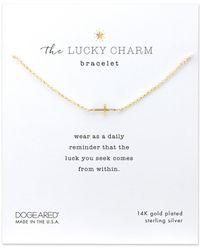 Dogeared - Cross Charm Bracelet - Lyst