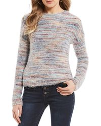Jolt - Eyelash Multi Sweater - Lyst